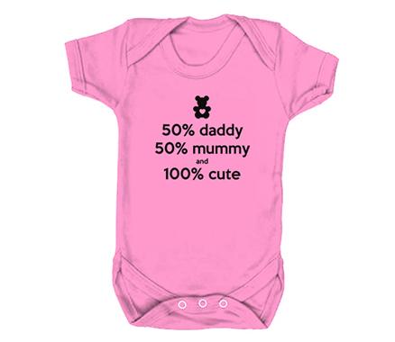 50% Mummy 50% Daddy Babygrow