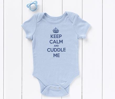 Keep Calm and Cuddle Me Babygrow