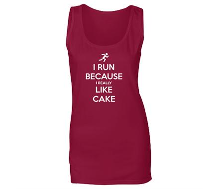 I run because I like cake Tank Top