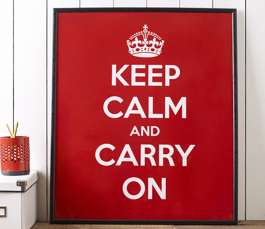 Keep Calm and Carry On Classic Poster