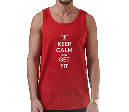 Keep Calm and Get Fit Men's Tank Top