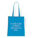Quote Tote Bag A smile is the prettiest thing