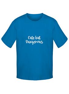 Cute but dangerous personalised children's t-shirt