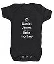 Personalised Monkey Babygrow