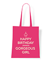 Happy birthday personalised tote bag