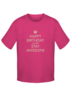 Personalised Birthday T-shirts