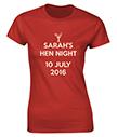 Hen Night Personalised T-Shirt