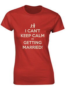 Getting Married Ladies T-Shirt