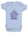 Blue personalised Babygrow