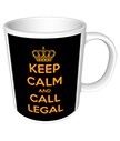 Keep Calm and Call Legal Corporate Mug
