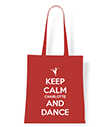 Keep Calm and Dance Personalised Tote Bag