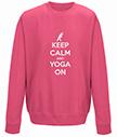 Keep Calm and Yoga On Sweatshirt