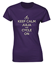 Keep Calm and Cycle On Personalised T-Shirt