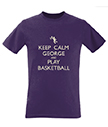 Keep Calm and Play Basketball Men's T-Shirt
