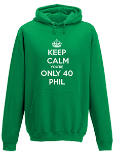 You're only 40 Personalised Hoodie