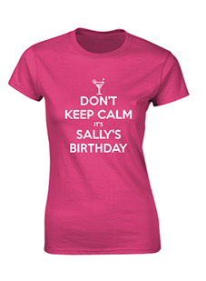 Personalised Birthday Ladies T-Shirt