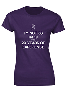 Personalised T-Shirt 18 with 20 years Experience