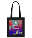 Summer Dreaming Black Tote Bag