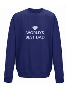 World's Best Dad Personalised Sweatshirt