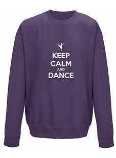 Keep Calm and Dance Personalised Sweatshirt