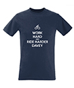 Men's T-Shirt Work Hard and Ride Harder
