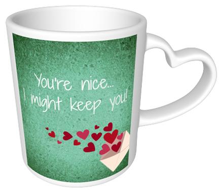 I might keep you Heart Mug