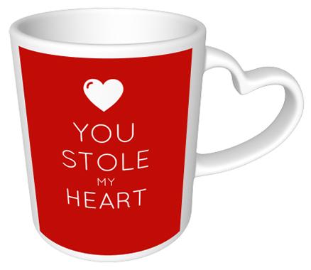 You stole my heart Heart Mug